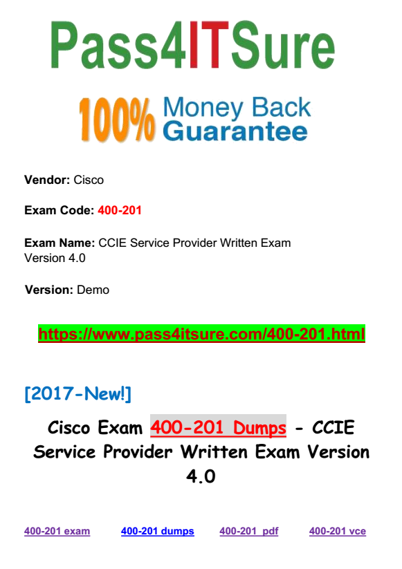 New Updated Questions] New Updated Cisco 400-201 Dumps CCIE