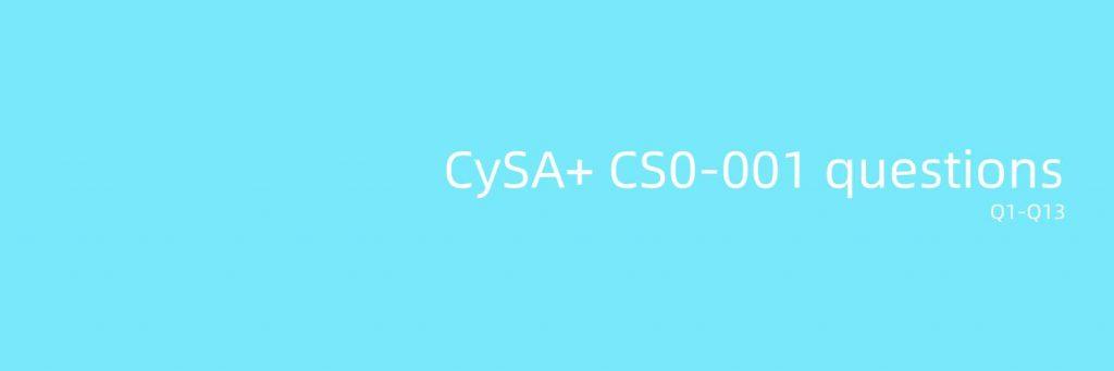 CS0-001 questions