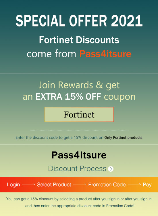 Fortinet Dumps Special Discount